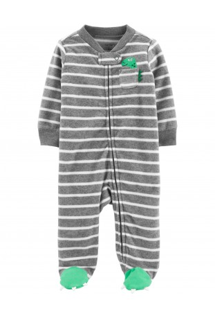 Macacão Zip-Up Dino Baby Fleece Carter's