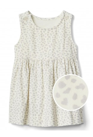 Vestido  Cheetah Cord Jumper Gap