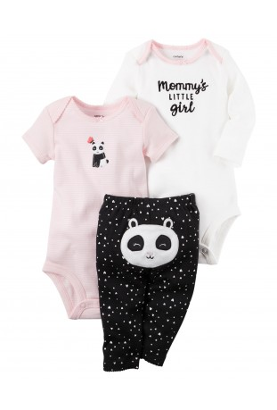 Conjunto 3 Peças Body Panda Mommy's Little Girl